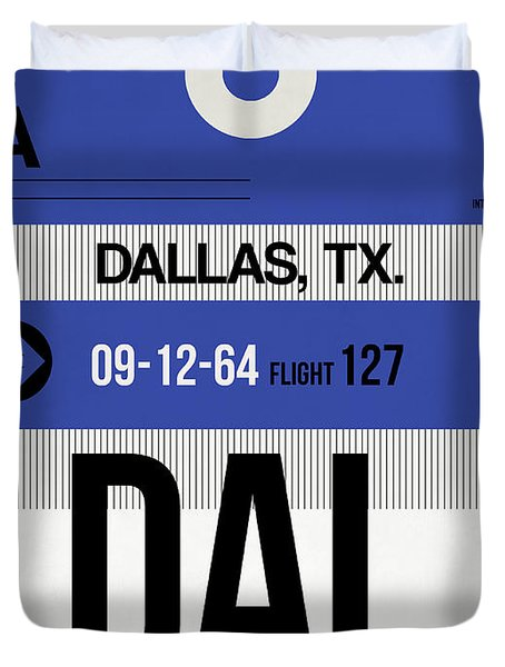 Dallas Airport Poster 1 Duvet Cover
