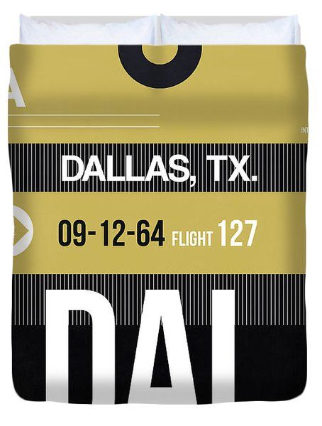 Dallas Airport Poster 2 Duvet Cover
