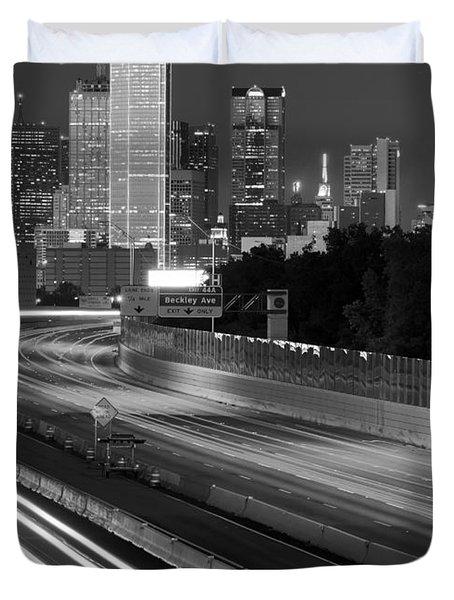 Dallas Arrival Bw Duvet Cover