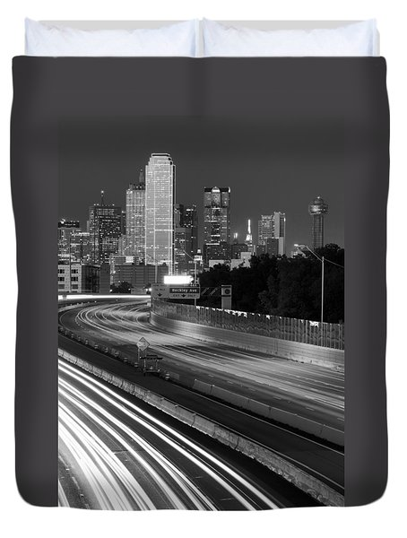 Dallas Arrival Bw Duvet Cover