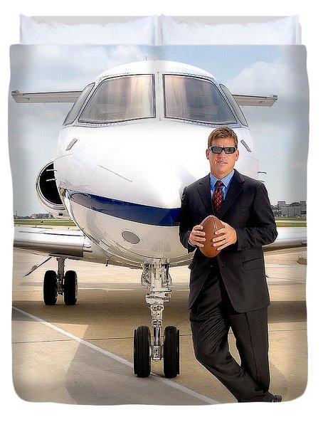 Dallas Cowboys Superbowl Quarterback Troy Aikman Duvet Cover