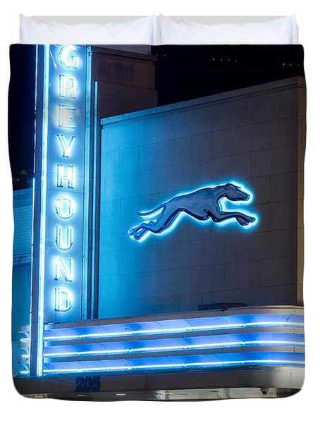 Dallas Greyhound V2 020915 Duvet Cover