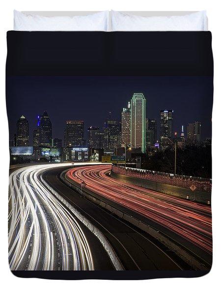 Dallas Night Duvet Cover by Rick Berk