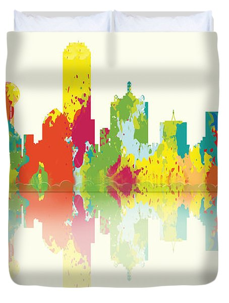 Dallas Skyline Duvet Cover