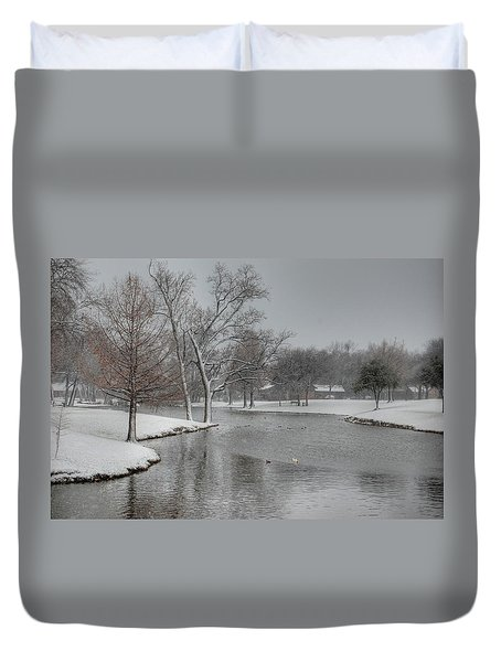 Dallas Snow Day Duvet Cover