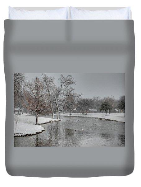 Dallas Snow Day Duvet Cover