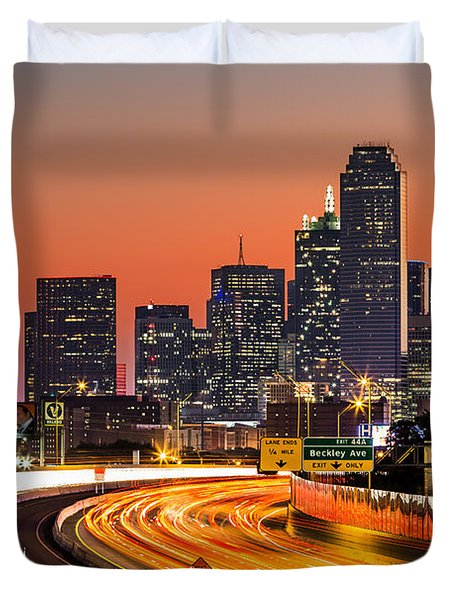 Dallas Sunrise Duvet Cover by Mihai Andritoiu