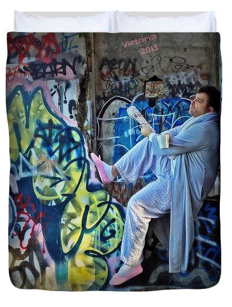 Dalyn At The Graffiti Underground Duvet Cover