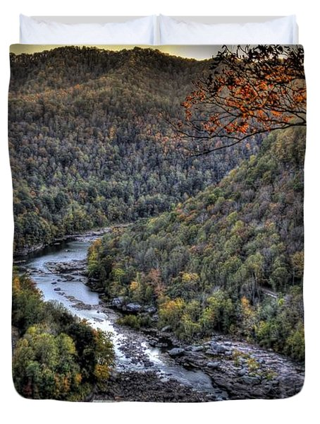 Duvet Cover featuring the photograph Dam In The Forest by Jonny D