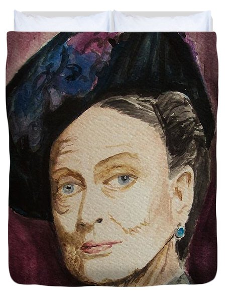 Dame Maggie Smith Duvet Cover by Amber Stanford