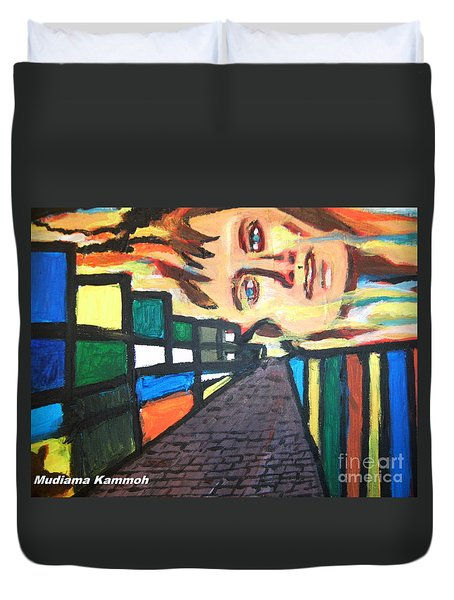 Duvet Cover featuring the painting Dame Tessa Jowell 02 by Mudiama Kammoh