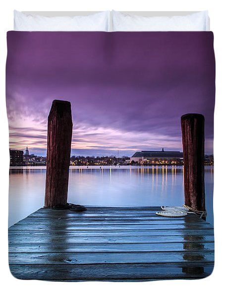Damp Sunset Duvet Cover