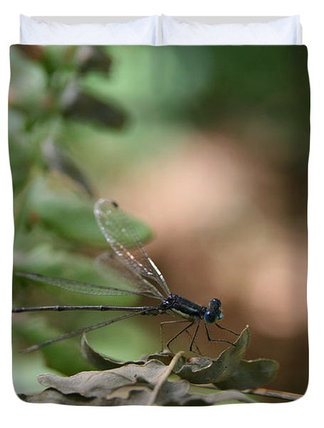 Duvet Cover featuring the photograph Damselfly by Neal Eslinger