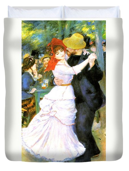 Dance At Bougival Duvet Cover by Pierre Auguste Renoir