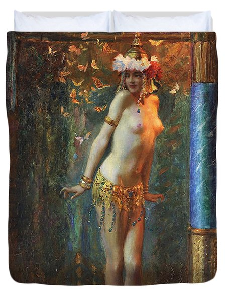 Dance De Salome Duvet Cover by Gaston Bussiere