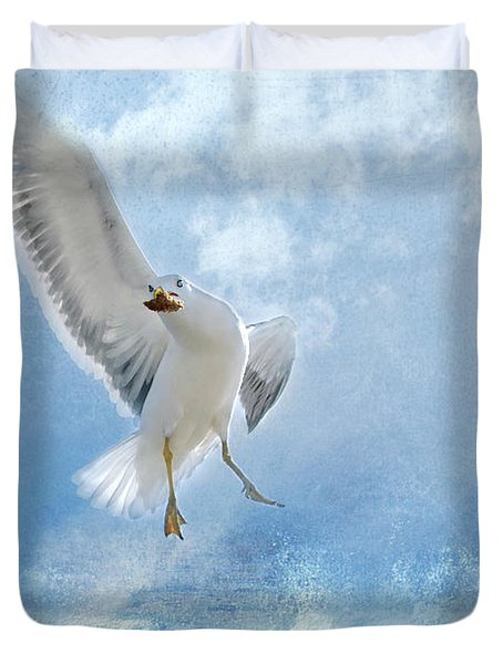 Duvet Cover featuring the photograph Dance For Food by Annie Snel