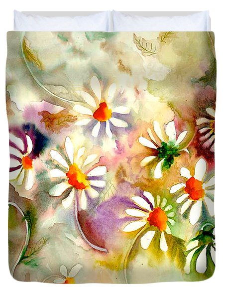 Dance Of The Daisies Duvet Cover