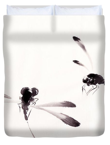Dance Of The Dragonflies Duvet Cover