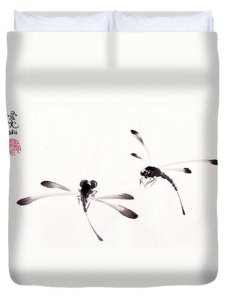 Dance Of The Dragonflies Duvet Cover by Oiyee At Oystudio