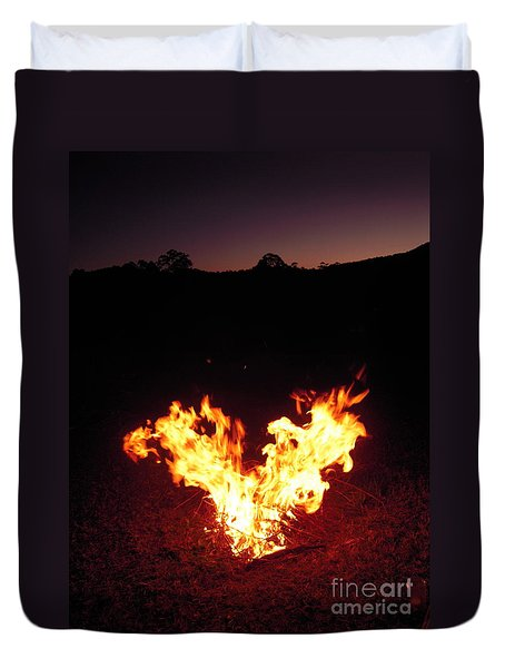 Fire In Your Heart Duvet Cover by Ankya Klay