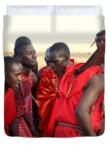 Dance Of The Maasai Duvet Cover