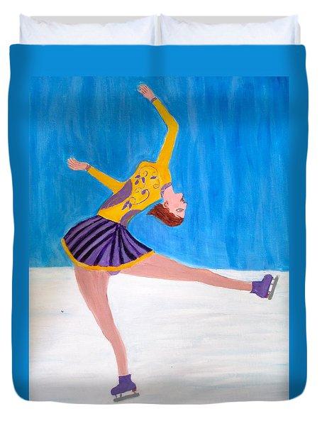 Dance On Ice Duvet Cover