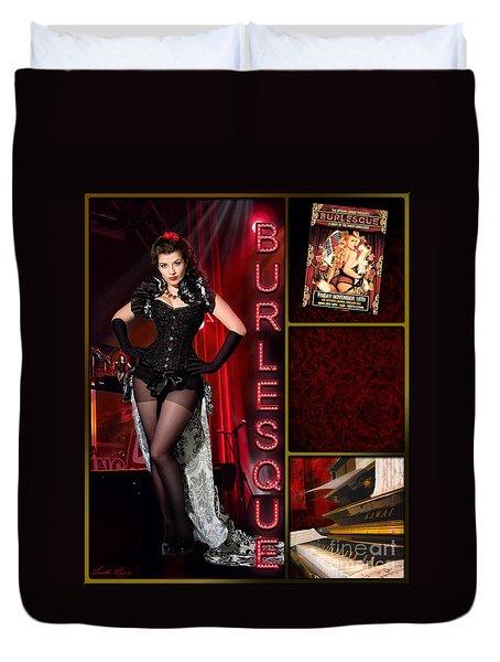 Dance Series - Burlesque Duvet Cover by Linda Lees