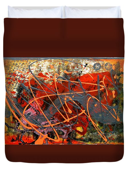 Dance With Dragons Duvet Cover by Leon Zernitsky
