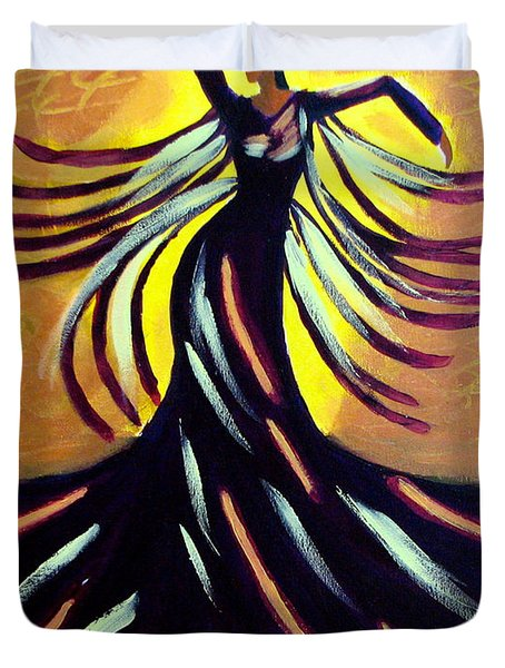 Duvet Cover featuring the painting Dancer by Anita Lewis