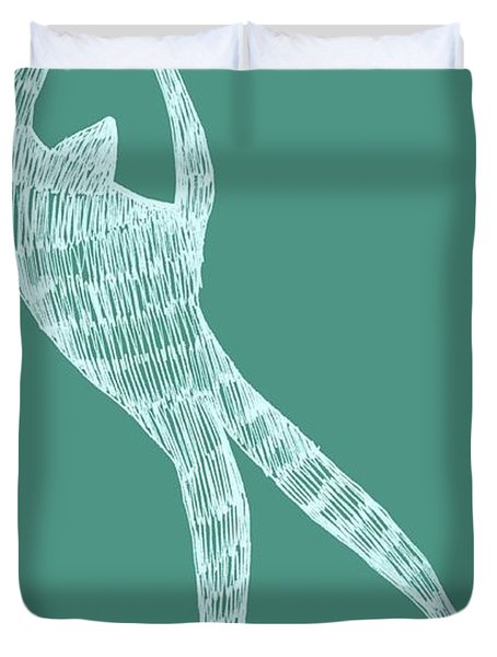 Dancer Duvet Cover by Michelle Calkins