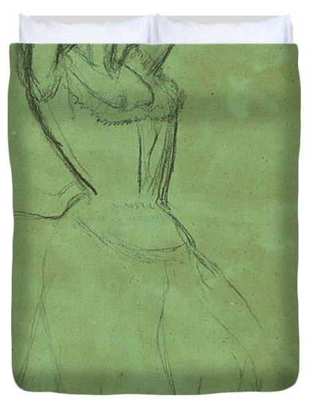 Dancer With Raised Arms Duvet Cover by Edgar Degas
