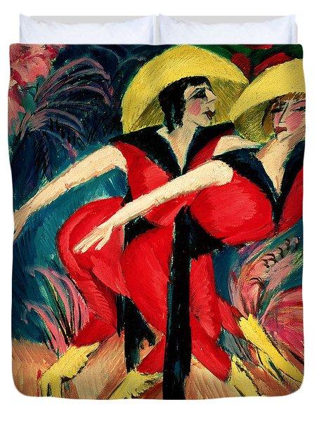 Dancers In Red Duvet Cover