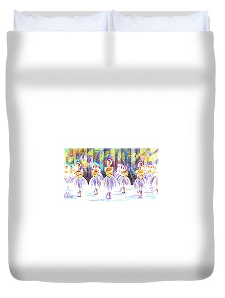 Dancers In The Forest II Duvet Cover