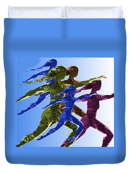 Dancers Duvet Cover by Mary Armstrong