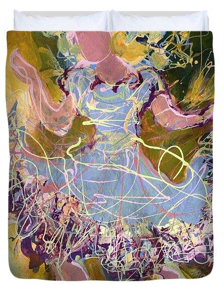 Dancing 1 Duvet Cover by Marilyn Jacobson