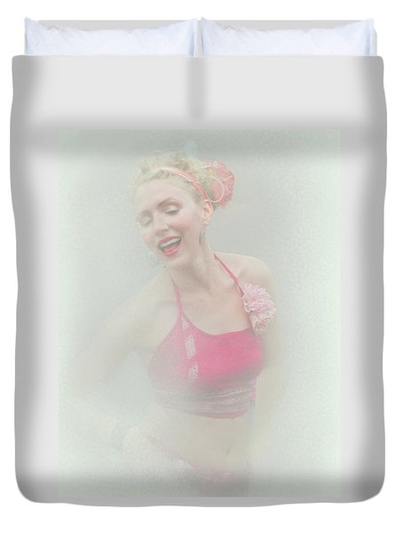 Dancing Around The Tip Of Hysteria Duvet Cover by Jeff Burgess