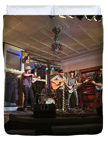 Dancing At The Purple Fiddle With Bryan Elijah Smith And The Wild Heart Band  Duvet Cover by Dan Friend