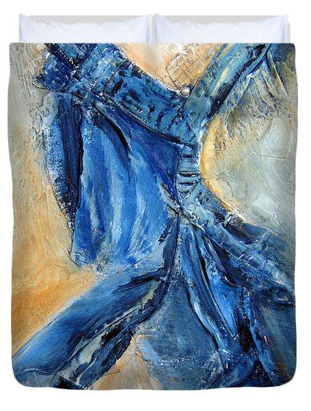 Dancing Denim Duvet Cover