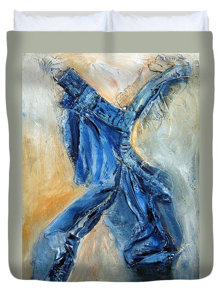 Dancing Denim Duvet Cover