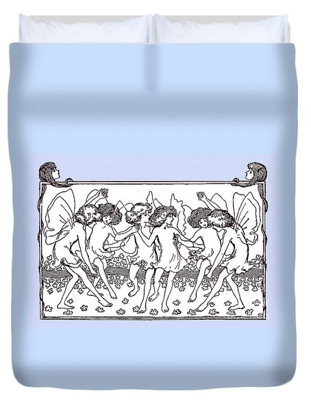 Dancing Fairies From 1896 Duvet Cover