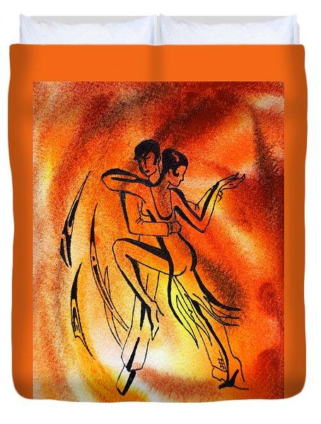 Dancing Fire Iv Duvet Cover by Irina Sztukowski