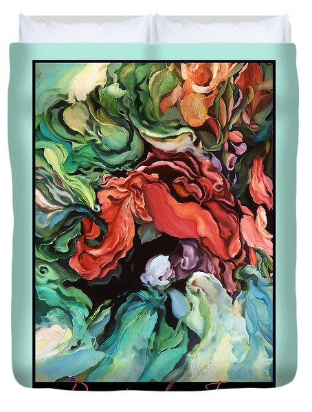 Duvet Cover featuring the painting Dancing For Joy 2 by Brooks Garten Hauschild