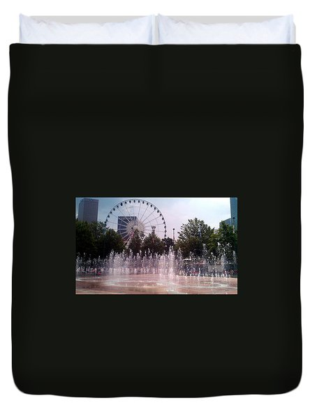 Dancing Fountains Duvet Cover
