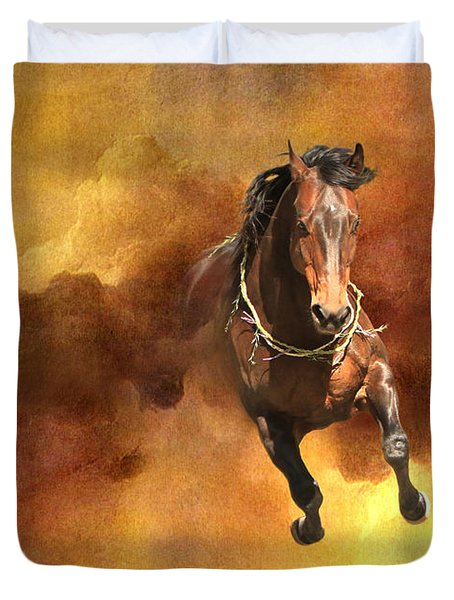 Dancing Free I Duvet Cover by Michelle Twohig