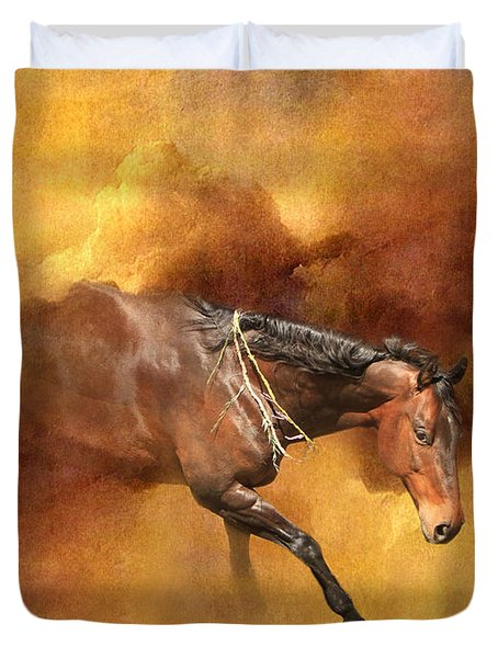 Dancing Free II Duvet Cover by Michelle Twohig