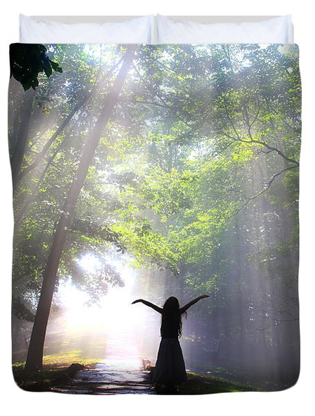 Dancing In God's Light Copyright Willadawn Photography Duvet Cover