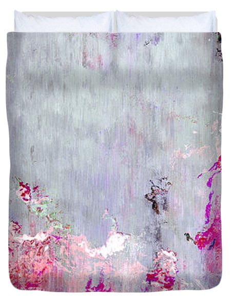 Dancing In The Rain - Abstract Art Duvet Cover