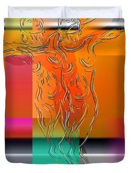 Dancing In The Rain Duvet Cover by Mark Ashkenazi