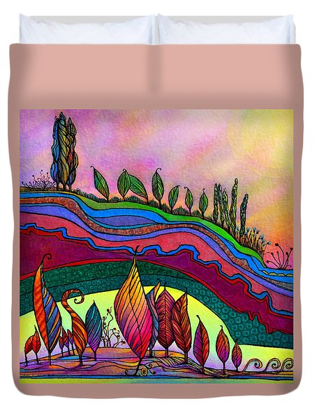 Dancing In The Sunshine Duvet Cover