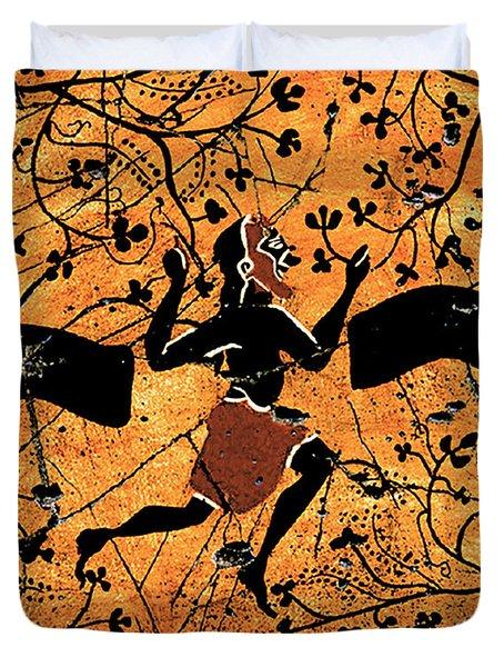 Dancing Man - Study No. 1 Duvet Cover